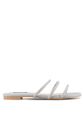 ZALORA grey Triple Strap Sandals DC4F4SH6694A57GS_1