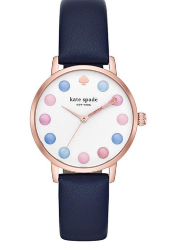 Kate Spade blue Kate Spade Metro Rose Gold and Blue Leather Watch 4B0D1AC1E9970EGS_1