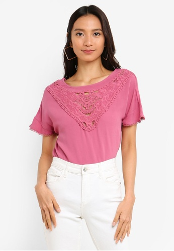 ONLY pink Sabrina Top 7471FAA38AB145GS_1