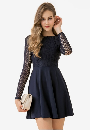 c7680d641f91 Buy Eyescream Lace Top Skater Dress | ZALORA HK