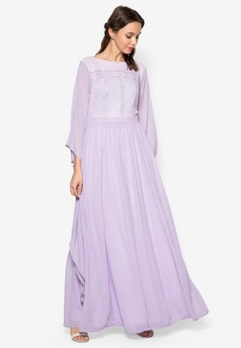 蕾絲寬袖esprit 高雄長洋裝, 服飾, 洋裝
