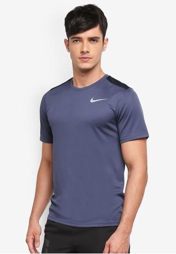 Nike blue Men's Nike Short Sleeve Running Top B952FAAFE56FD8GS_1