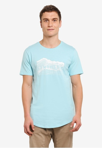 Factorie blue Curved Tail Tee FA880AA0SAAOMY_1