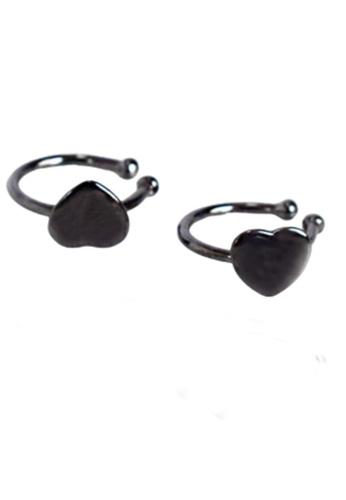 LYCKA 黑色 LDR8047b S925純銀愛耳環 4AAA0AC268C65CGS_1