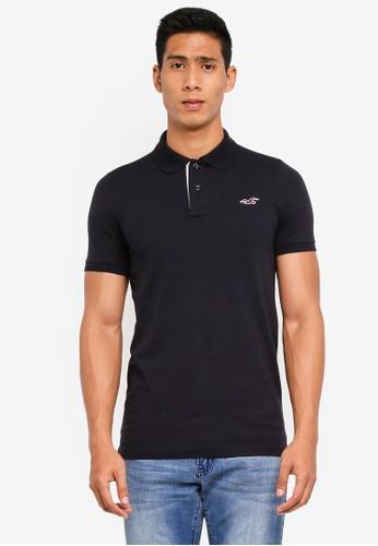 Hollister black Muscle Core Solid Polo Shirt E1645AA63CA810GS_1