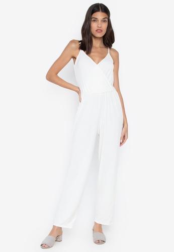 832797af965 Ashley Collection white Cami Surplice Neckline Jumpsuit E993EAA623B4B0GS 1