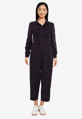 Superdry 黑色 天絲棉 連身褲 - Original & Vintage 5AA45AA7F88A3CGS_1