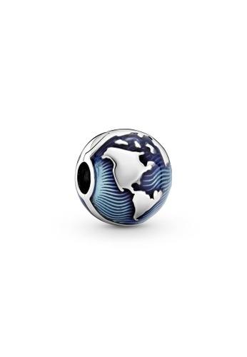 Pandora blue Blue Globe Clip Charm 24171AC4DBA500GS_1