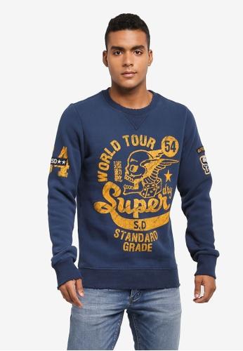 Superdry navy WORLD TOUR CREW D4BB8AA167F4D3GS_1