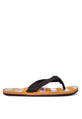 VANS orange Captain Fin Thresher Flip Flops E8389SH8D74533GS_1