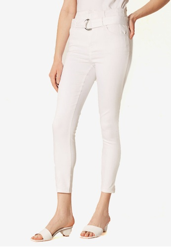 LC Waikiki white Tight Trousers With Ankle Strap 5F020AA3142911GS_1