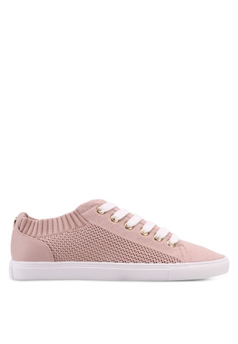 TOPSHOP pink Cake Knitted Trainers 8A71FSH2BB9024GS_1