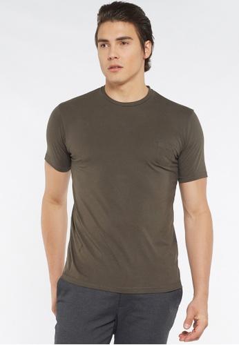Août green Août - Mens Plain Essential Crew Neck Cotton T-shirt F92B8AA5677C3FGS_1
