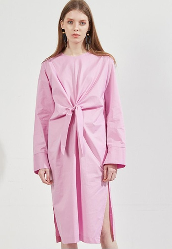 Workwear multi Pale Pink Twist Dress WO056AA55FIUSG_1