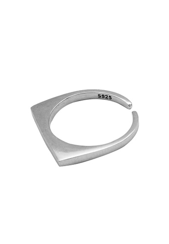 LYCKA silver LDR1203 S925 Silver Minimal Square Style Ring F29A6ACD79F08DGS_1
