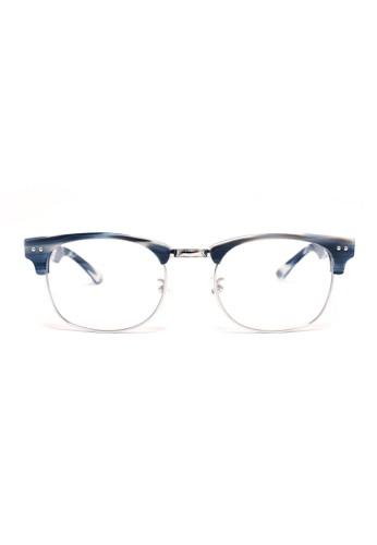 眉架鏡框│藍灰色 esprit outlet 台灣X 銀色│M1054-C6, 飾品配件, 眼鏡