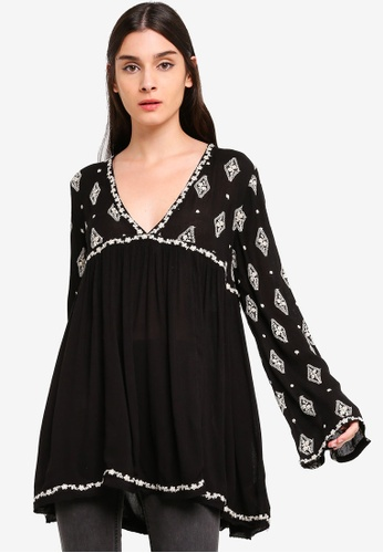 be297245cb4153 Shop Free People Diamond Embroidered Top Online on ZALORA Philippines