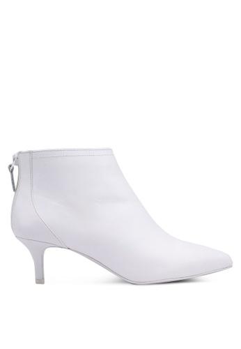 Mango 白色 拉鍊踝靴 55342SHA17C171GS_1