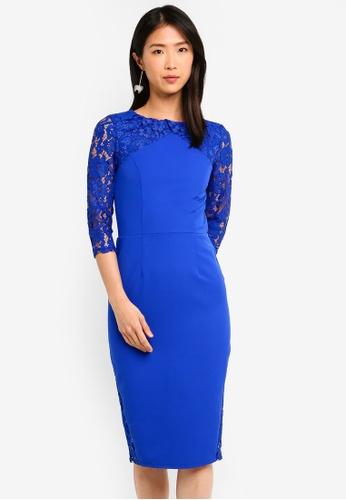 Paper Dolls blue Cobalt Midi Dress 4B1F3AA8CA26C3GS_1