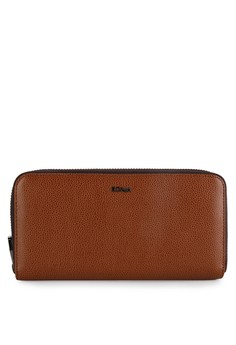 Image of Brown Double Zip Purse