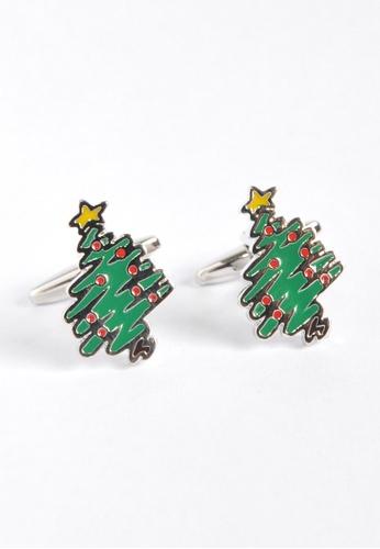 Splice Cufflinks Christmas Tree Cufflinks SP744AC10YSBSG_1