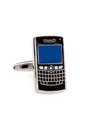 The Little Link Cufflinks black Blackberry cufflinks TH089AC0FSVYSG_1