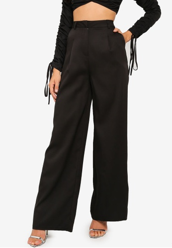 MISSGUIDED black Co Ord Masculine Wide Leg Trousers 34A47AA6DF5B57GS_1