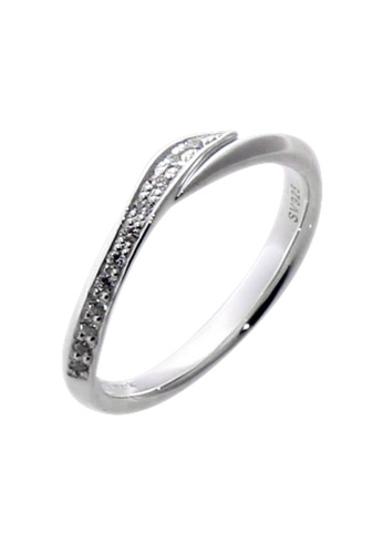 The LoveMark silver Twist Ring with Artificial Diamonds for Men lr0020m TH516AC73VASPH_1