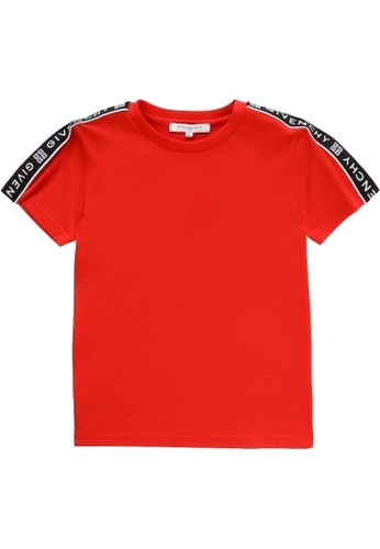 GIVENCHY KIDS red GIVENCHY BOYS T-SHIRT 06368KAF9AD855GS_1