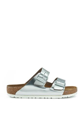 Birkenstock silver Arizona Metallics Sandals BI090SH67JQMMY_1