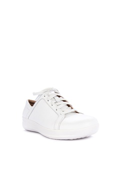 a987428b8a65 Fitflop white F-sporty Ii Lace Up Sneakers - Leather 9951ESH0040D4CGS 1