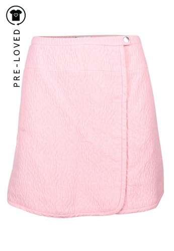 Carven pink Pre-Loved carven Pink Textured Skirt 2D673AA48F61A2GS_1