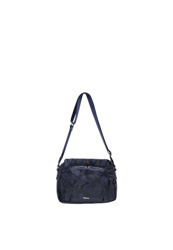 SEMBONIA blue SEMBONIA NYLON TRIM LEATHER CROSSBODY BAG B4155AC8E173E6GS_1