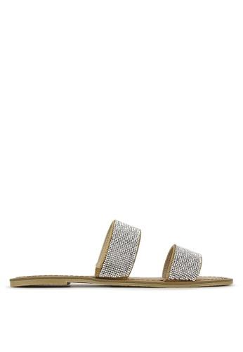 Betts silver Onyx Diamante Slip On Sandals 72B69SH4612EA2GS_1