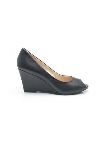 Elisa Litz black Benette Wedges (Black) AA84ESHE3A64AEGS_1