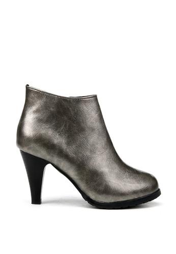 KissXXX grey Classic Metal Gray High Heel Boots KI688SH2VN1LHK_1