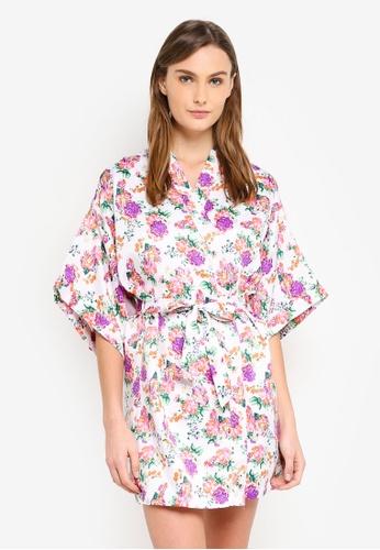 Cotton On Body white and purple Kimono Gown FBF8DAACD873A9GS_1