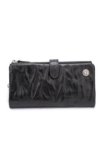 DUSTY black Wrinkle Duel Zipper Wallet EB150AC674DFF5GS_1