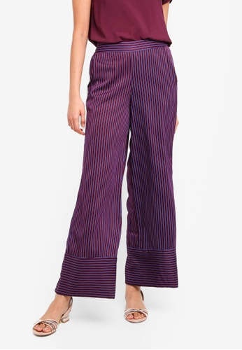 Vero Moda blue Nanna Coco Trousers 8A02EAA51D2DEFGS_1