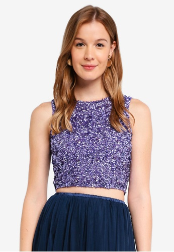 Lace & Beads purple Picasso Top F2E66AADC15FF9GS_1
