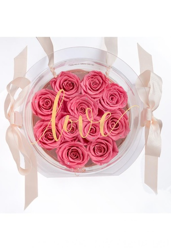 Her Jewellery pink Everlasting Preserved Rose - Honey Bag (Pink) E050CHL1990130GS_1