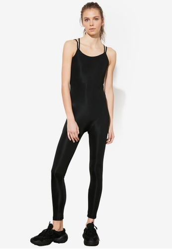 Trendyol black Strappy Back Active Jumpsuits 202CBAA41970C0GS_1