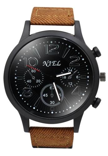 Dooka black Niel Analog Men's Watch DO079AC35SRCPH_1