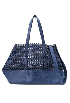Paulina Perforated Tote with Wallet