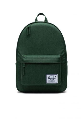 Herschel green Backpack Classic X- Large Greener Pastures Crosshatch 0683BAC7CF5AEBGS_1