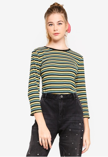 ESPRIT green and multi 3/4 Sleeve T-Shirt 3334EAAB81D8C2GS_1