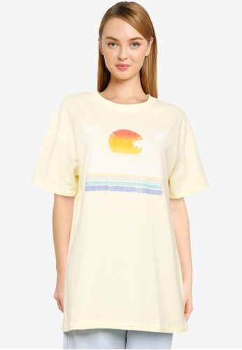 Cotton On yellow The Relaxed Boyfriend Graphic Tee BFA03AABD085A6GS_1