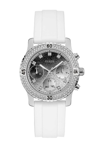 Guess Watch white Guess Jam Tangan Wanita - White Silver - Rubber - W1098L1 E1C06ACC518197GS_1