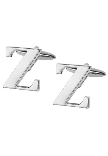 CUFF IT silver Initial Alphabet Z Cufflinks CU047AC2VHG8HK_1