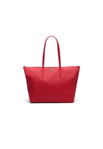 Lacoste pink Lacoste Women's L.12.12 Concept Zip Tote Bag NF1888PO E7DE7AC20FEA47GS_1